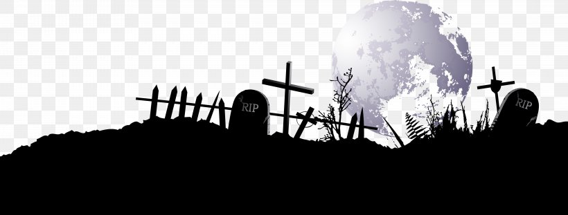 Cemetery Headstone Euclidean Vector, PNG, 4346x1653px, Cemetery, Black And White, Brand, Diagram, Grave Download Free