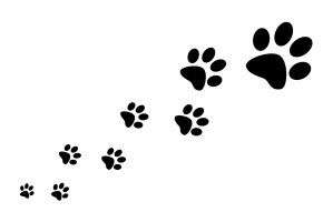 Dog Surrender Cliparts - Dog Cat Paw Silhouette Clip Art PNG