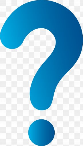 Question Mark - Blue Sky Pattern PNG