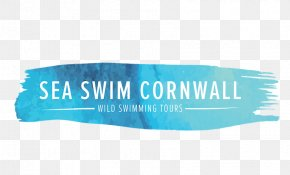 Swimmers Open Sea - Logo Font Product Brand Turquoise PNG