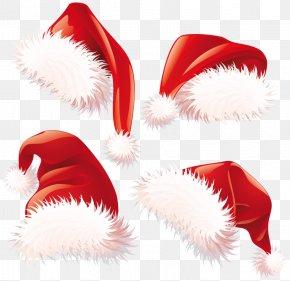 Transparent Christmas Santa Hats Clipart - Santa Claus Christmas Hat Clip Art PNG