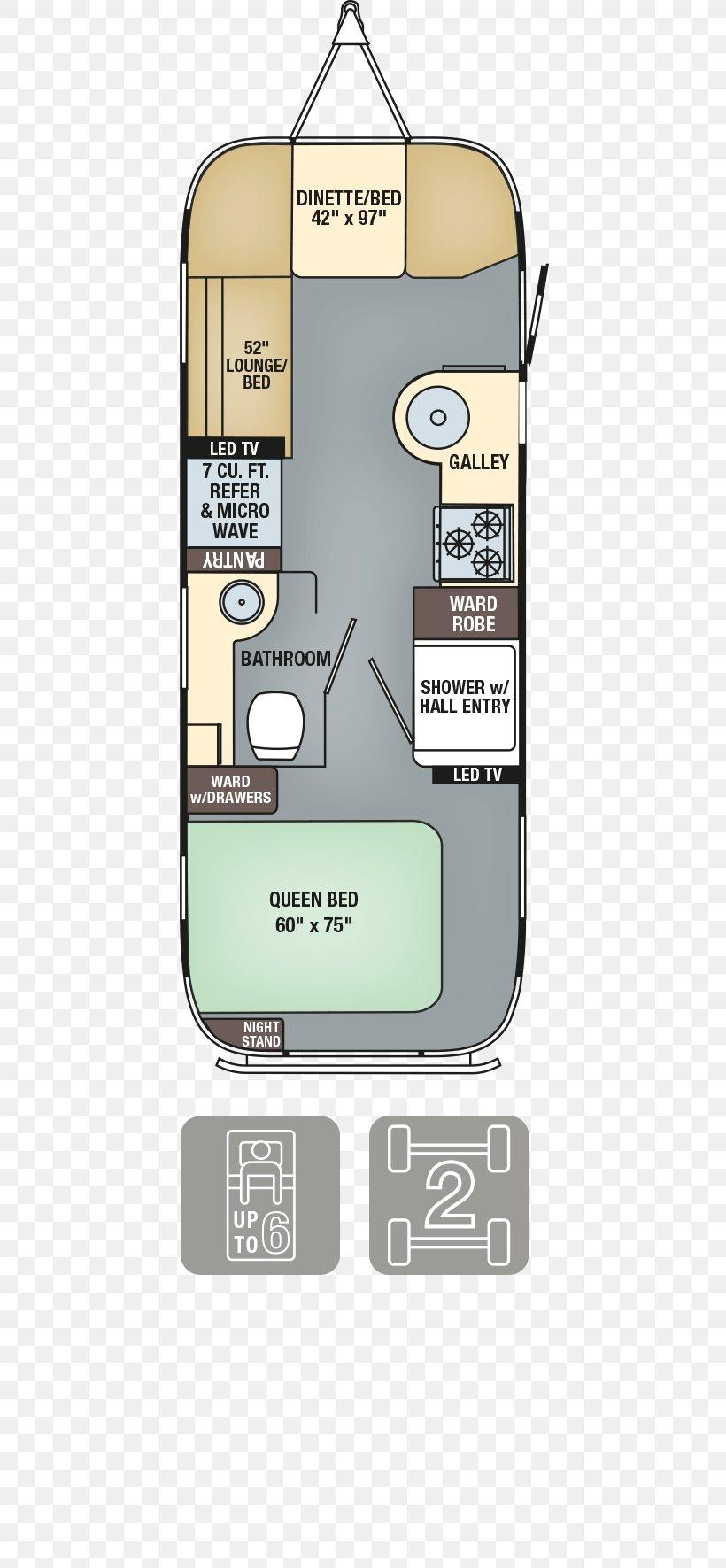 Airstream Caravan Campervans Floor Plan