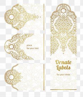 Golden Flower Pattern - Paper Motif Drawing Pattern PNG