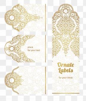 Golden Flower Pattern - Paper Motif Drawing Pattern PNG