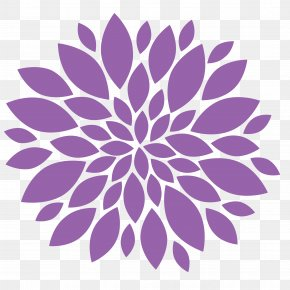 Lilac Flower Cliparts - Dahlia Flower Clip Art PNG