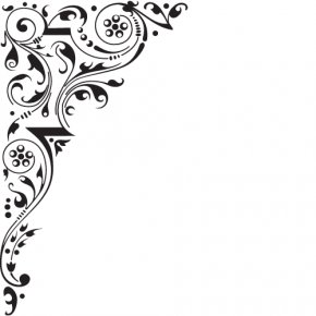 Corner Designs - Decorative Borders Picture Frame Clip Art PNG