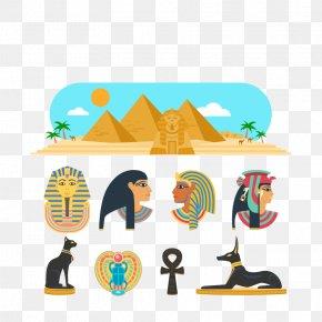 Vector Egypt - Egyptian Pyramids Ancient Egyptian Deities Pharaoh PNG