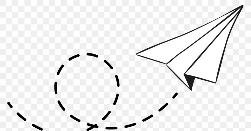 Paper Airplane Drawing Png 1000x524px Airplane Black