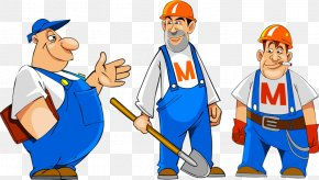 Worker Needed - Cartoon Vector Graphics Image Drawing PNG