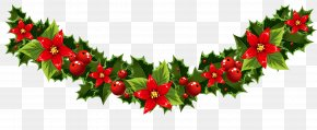 Vector Wreath - Christmas Tree Santa Claus Clip Art PNG