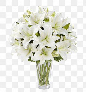 White Lily Flower Arrangement - Floral Design Canada Easter Lily Flower Bouquet FTD Companies PNG