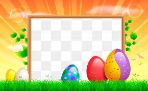Transparent Easter Frame - Easter Bunny Easter Egg Cranberry Easter Clip Art PNG