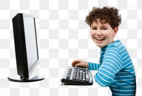 Child Personal Computer Hardware - Output Device Technology Electronic Device Personal Computer Computer Keyboard PNG