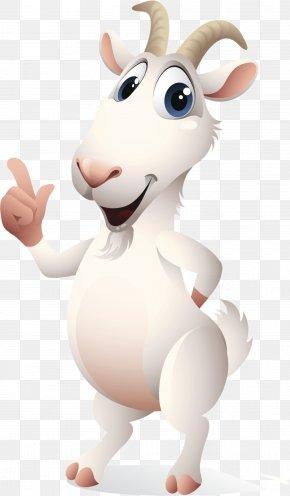 A Cartoon Goat - Goat Sheep Cat Animal PNG