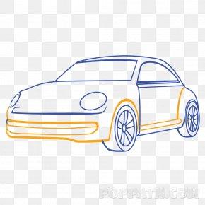 Volkswagen - Volkswagen Beetle Car Automotive Design Drawing PNG