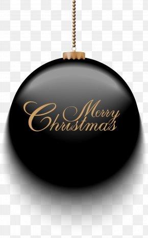 Black Christmas Ball - Christmas Ornament PNG