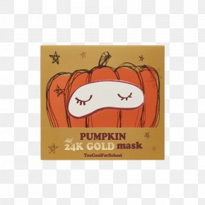 Mask - Too Cool For School Pumpkin 24K Gold Mask Too Cool For School Pumpkin 24K Gold Mask K-Beauty Skin Care PNG
