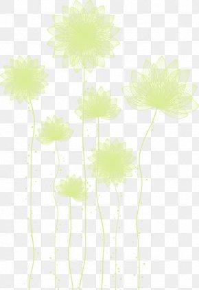 Fantasy White Flower Pattern - Petal Flora Yellow Pattern PNG