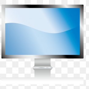 Hand-drawn Computer - Computer Monitor LCD Television Information Technology PNG