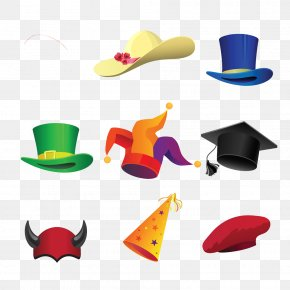 Cartoon Hat Icon Image - Six Thinking Hats Party Hat Cartoon PNG