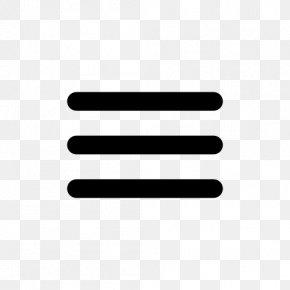 Bar Icon - Hamburger Button Icon Design Web Typography PNG