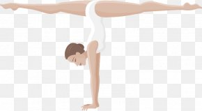 Vector Hand-painted Dancers - Shoulder Floor Hand Physical Fitness PNG