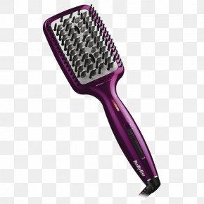 Gold Brush - Hair Iron Hair Clipper Borste Hairbrush Hair Care PNG