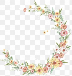 Flower Wreath - Flower Photography Watercolor Painting Clip Art PNG