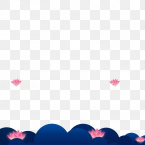 Cartoon Lotus Material - Petal Sky Love Wallpaper PNG