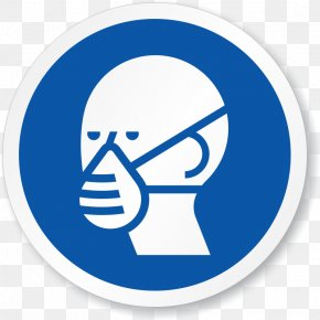 Funny Respirator Cliparts - Respirator Sign Personal Protective Equipment Dust Mask Hazard PNG