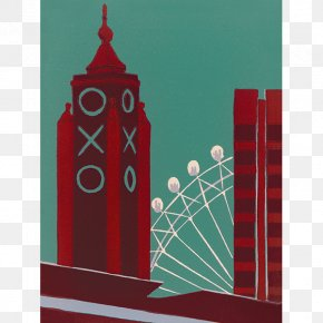 Canvas Wall - London Eye City Of Westminster Printmaking Canvas Print Art PNG