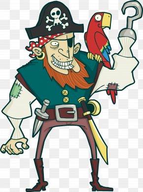 Vector Pirate - Parrot Piracy Euclidean Vector PNG