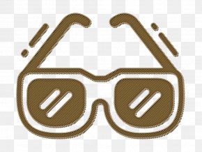 Symbol Brown - Beach Icon Glasses Icon Summer Icon PNG