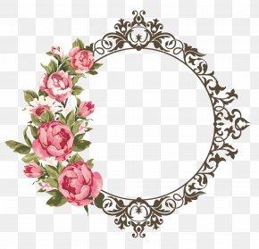 Wedding Ornament - Flower Picture Frames Floral Design Clip Art PNG