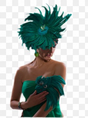 Hat - Woman With A Hat Feather Fashion Headband PNG