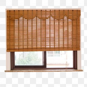 Bamboo Curtain On The Windows - Window Blind Curtain Window Shutter Shade PNG