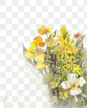 Hand-painted Flower Bouquet - Floral Design Watercolor Painting Flower Bouquet Drawing Illustration PNG