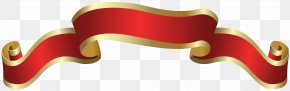 Red Banner Deco Clip Art Image - Red Clip Art PNG