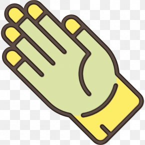 Thumb Finger - Yellow Personal Protective Equipment Safety Glove Hand Clip Art PNG