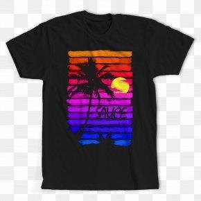 T-shirt - T-shirt Black M Font PNG