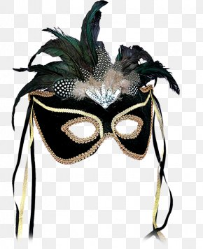 Mask - Mask Masquerade Ball Feather Costume Mardi Gras PNG