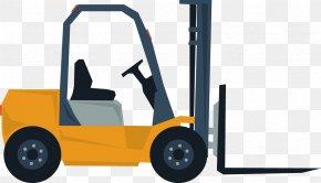 Vector Creative Design Diagram Yellow Truck Pileup - Car Wheel Forklift Automotive Design PNG