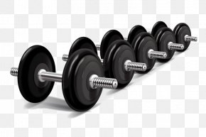 Textured Dumbbell Element - Weight Training Physical Exercise Weight Machine Olympic Weightlifting PNG