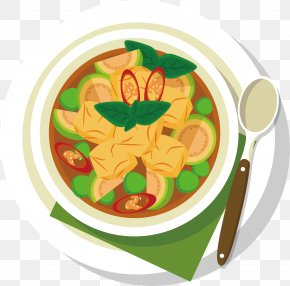 Cartoon Meat Vector - Meat Dish Soup Illustration PNG