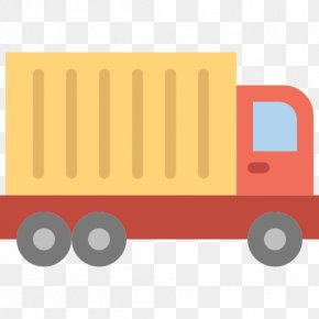 Big Red Truck - Truck Car Transport Icon PNG