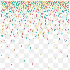 Colored Confetti Background - Confetti Clip Art PNG