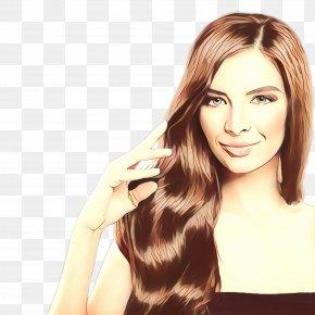 Long Hair Hair Coloring - Hair Face Hairstyle Blond Skin PNG
