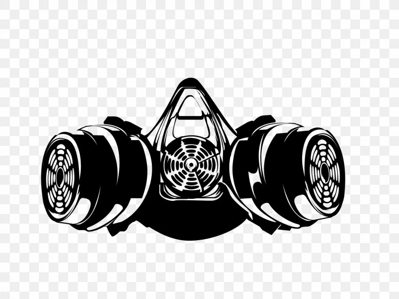 Gas Mask Respirator Silhouette Drawing, PNG, 1600x1200px ...