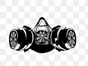Gas Mask - Gas Mask Respirator Silhouette Drawing PNG