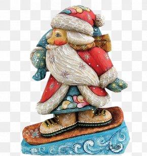 Santa Claus - Ded Moroz Santa Claus Christmas Ornament Figurine PNG